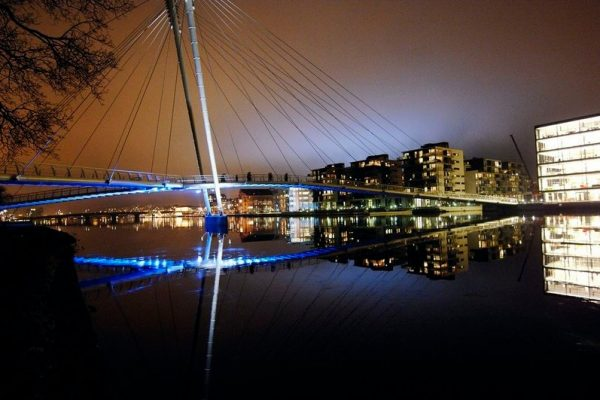Foto av Ypsilon bru i Drammen. Foto: Lisa Selin
