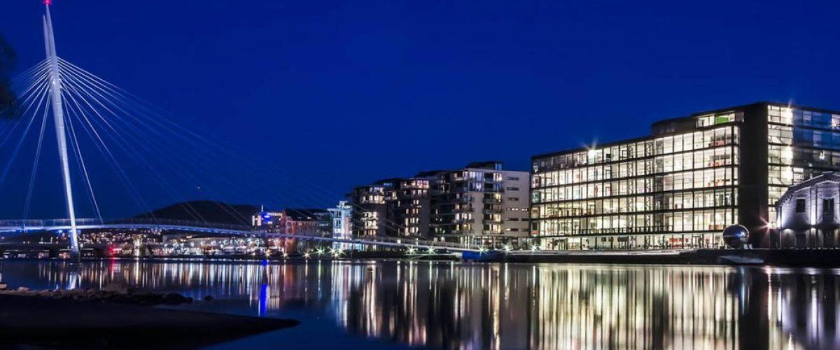 Bilde av Ypsilon og Union brygge i Drammen