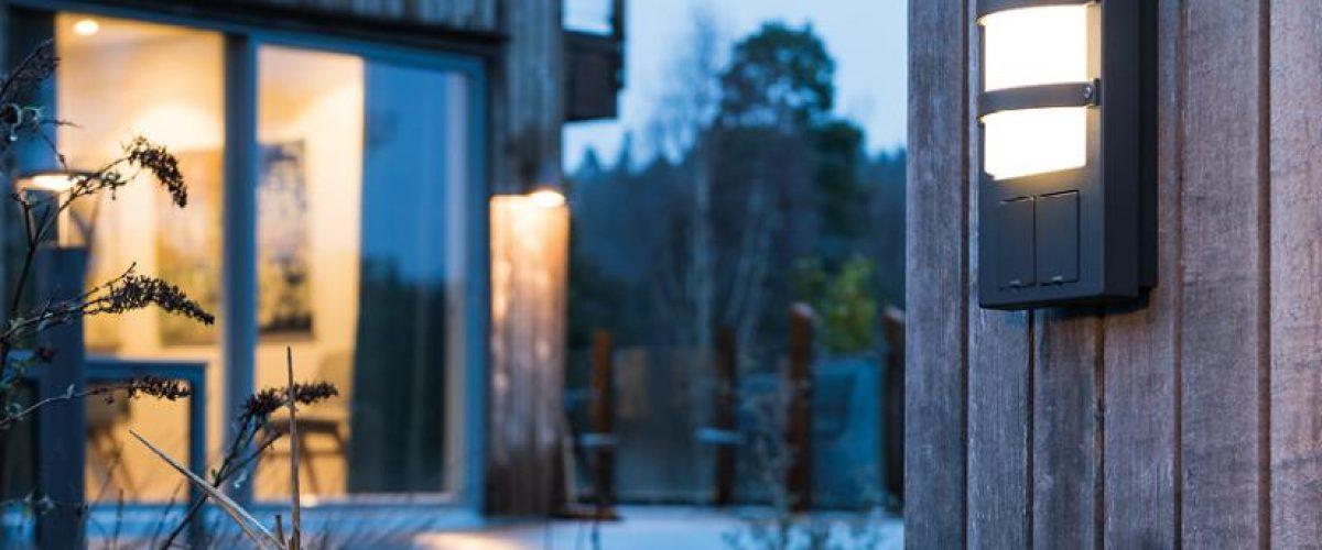 Bilde av utelampe på vegg